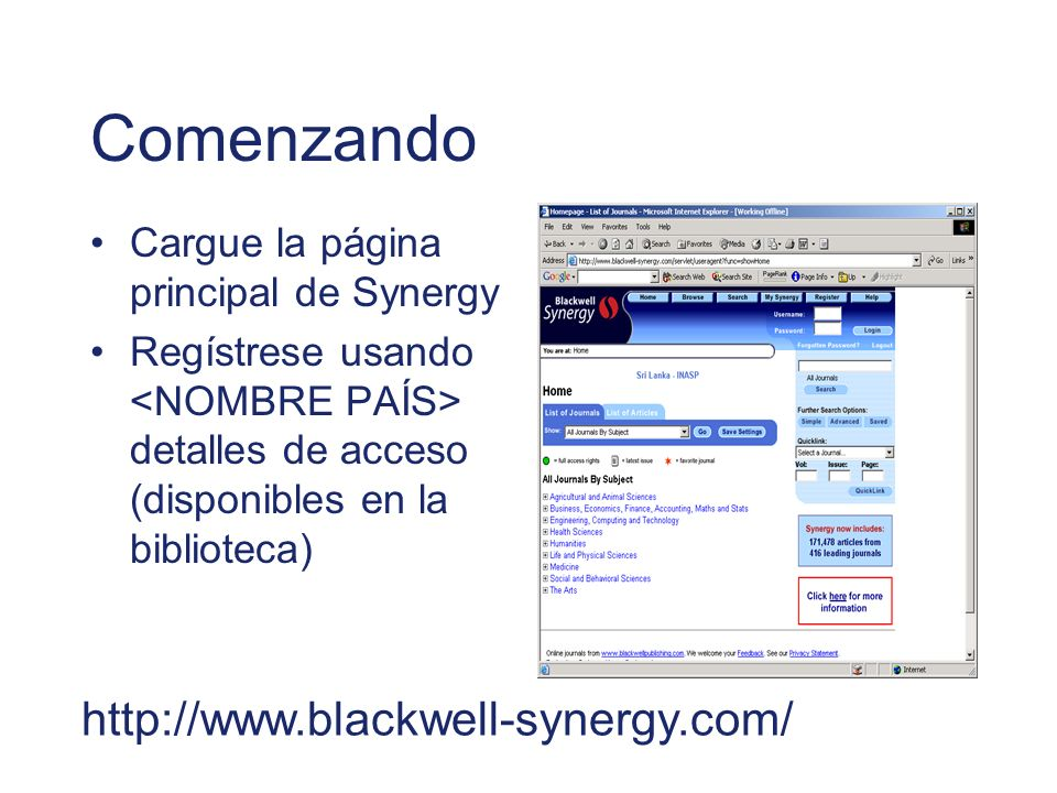 Comenzando http://www.blackwell-synergy.com/