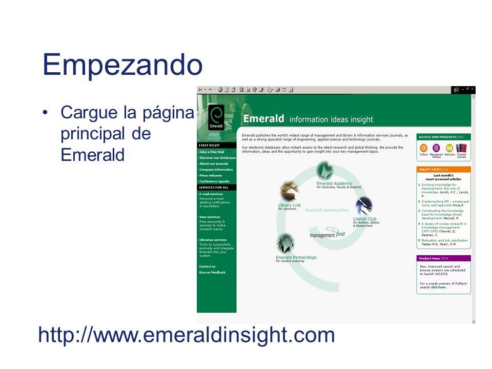 Empezando http://www.emeraldinsight.com