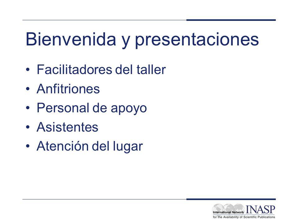 Bienvenida y presentaciones