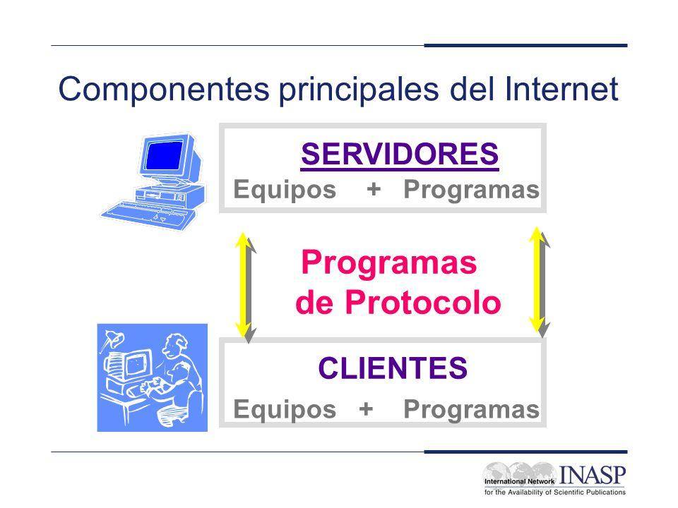 Componentes principales del Internet
