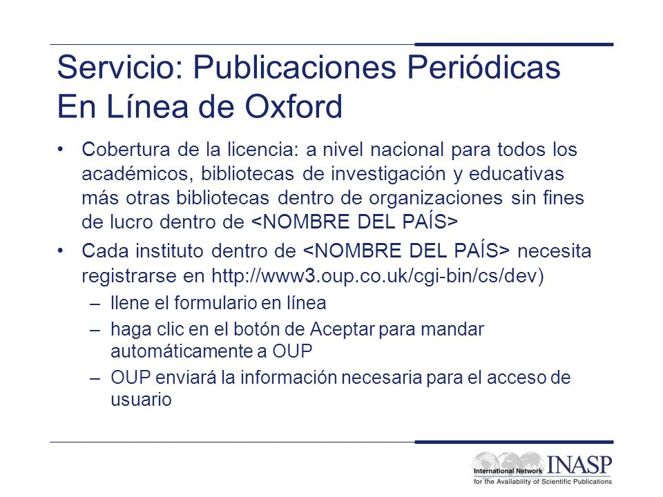 Servicio: Publicaciones Periódicas En Línea de Oxford