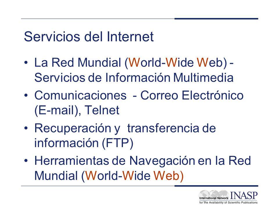 Servicios del Internet