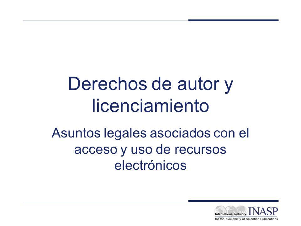 Derechos de autor y licenciamiento
