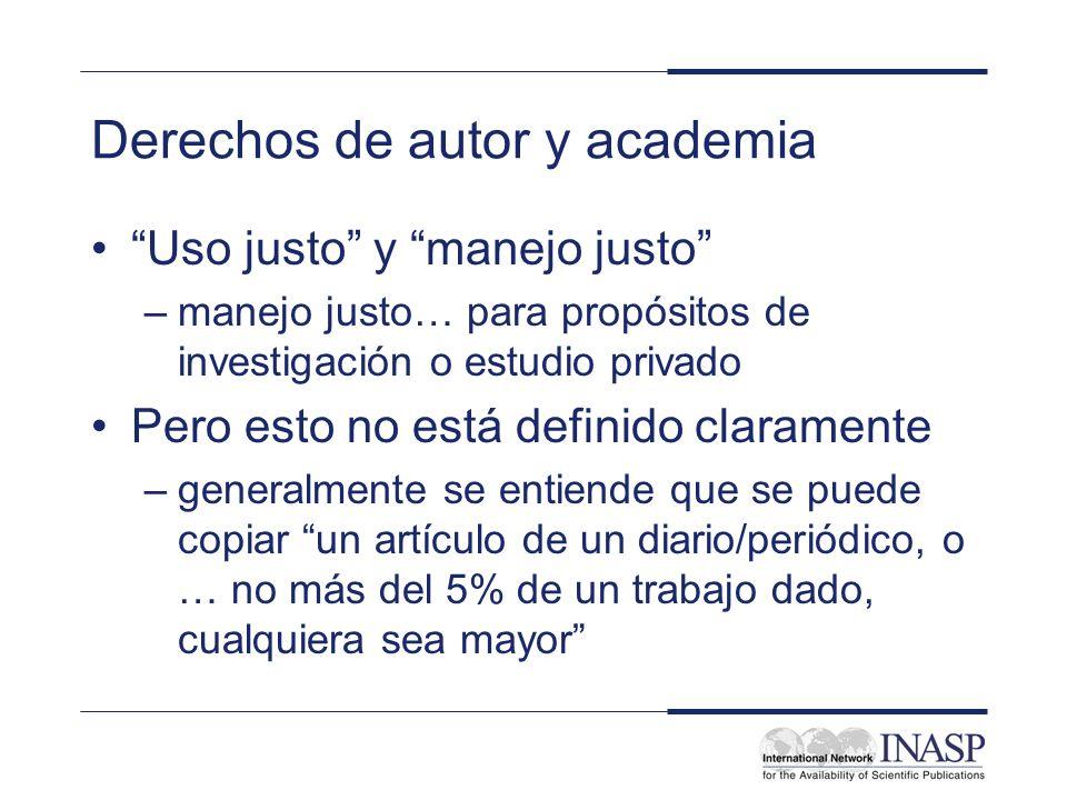 Derechos de autor y academia