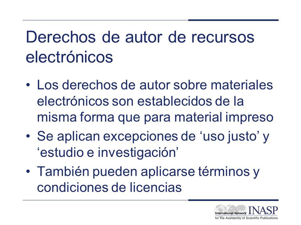 Derechos de autor de recursos electrónicos
