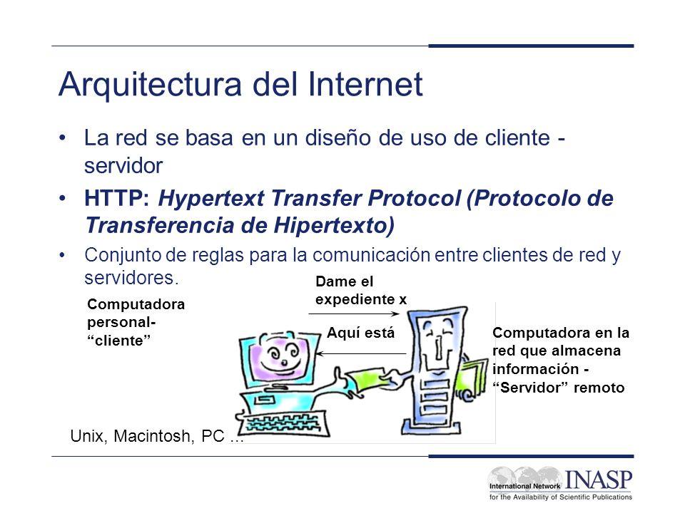 Arquitectura del Internet