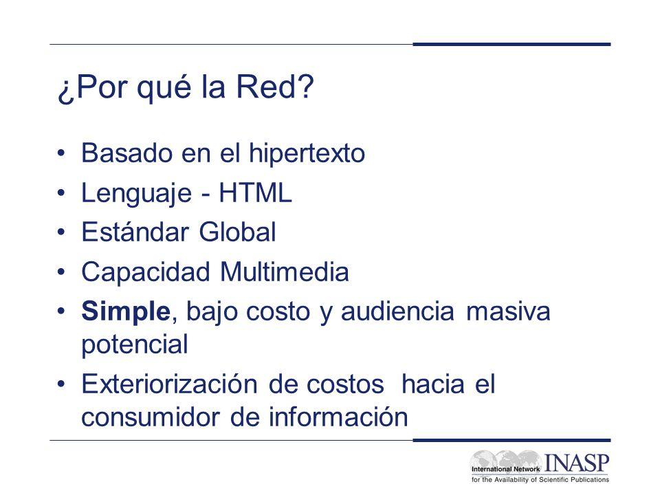¿Por qué la Red Basado en el hipertexto Lenguaje - HTML