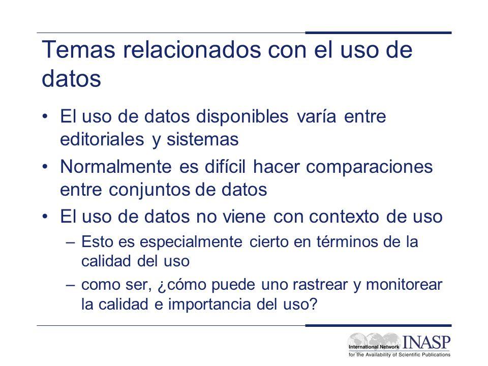 Temas relacionados con el uso de datos