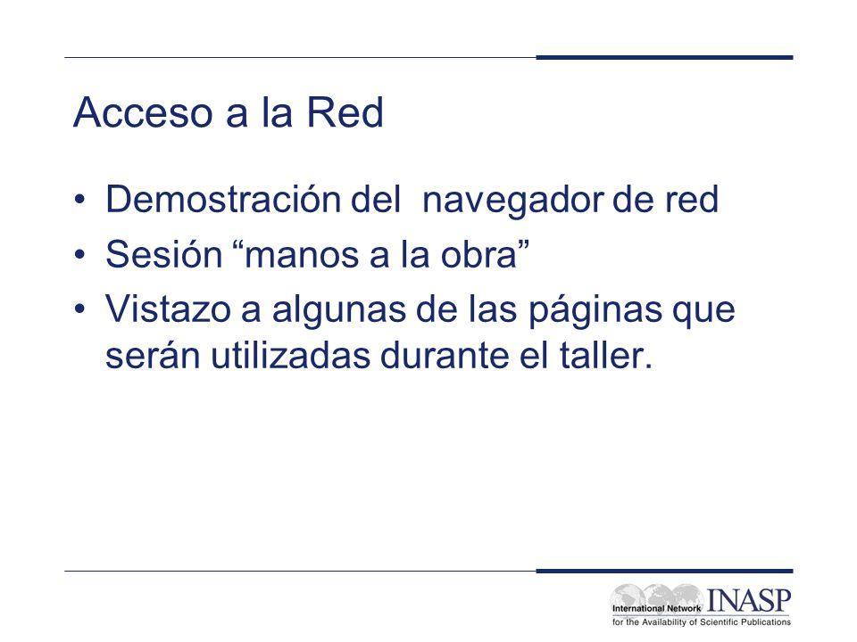 Acceso a la Red Demostración del navegador de red