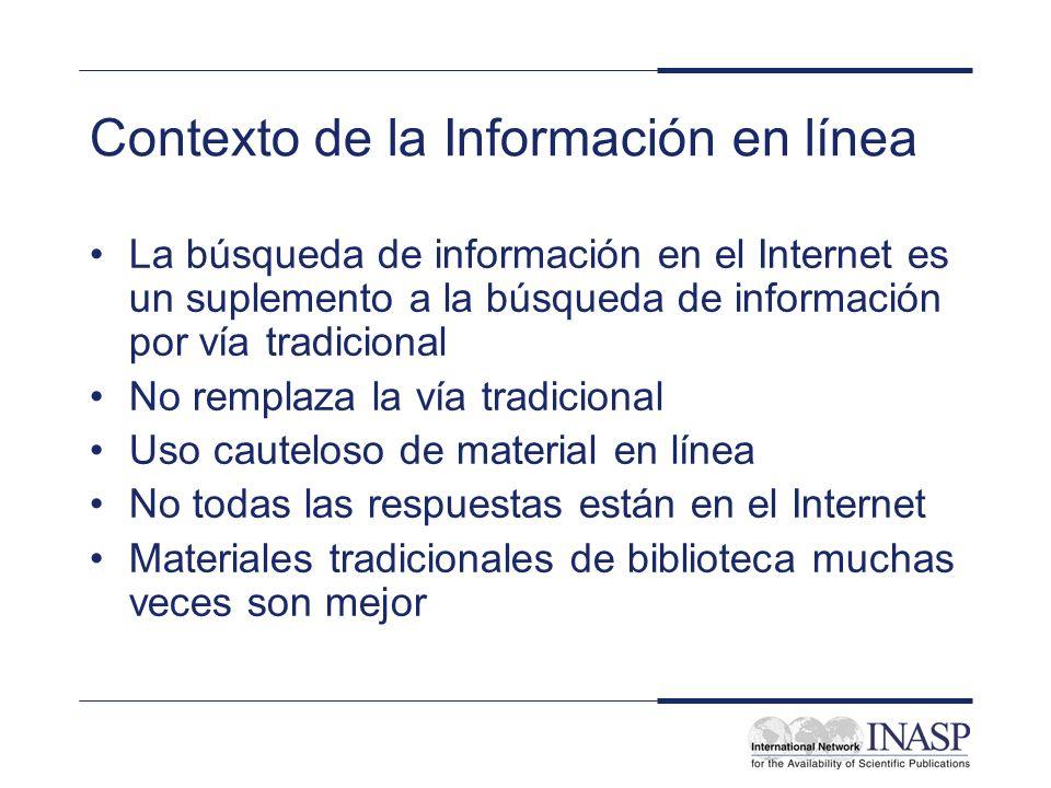 Contexto de la Información en línea