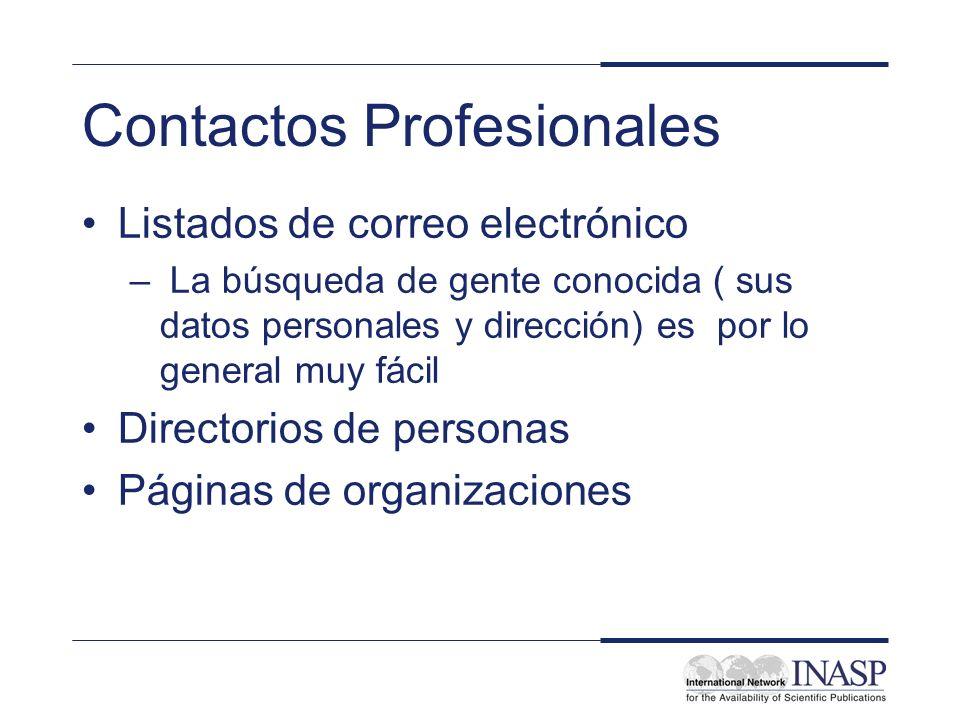 Contactos Profesionales