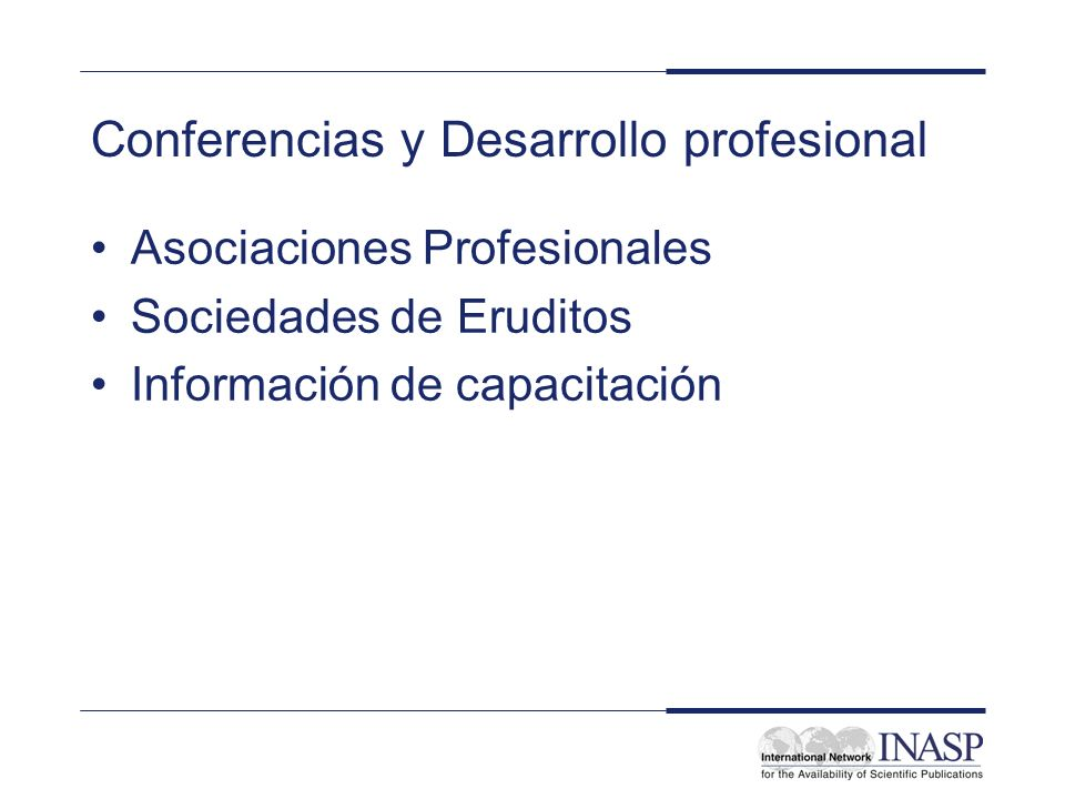 Conferencias y Desarrollo profesional