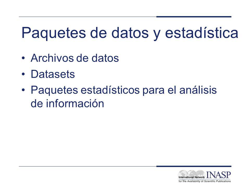 Paquetes de datos y estadística