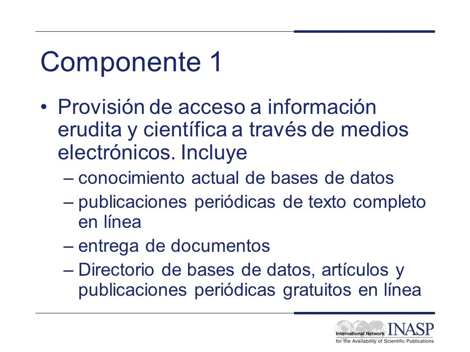 INASP Cascading Workshop: Electronic Journals and Electronic Resources Library Management: Workshop Introduction