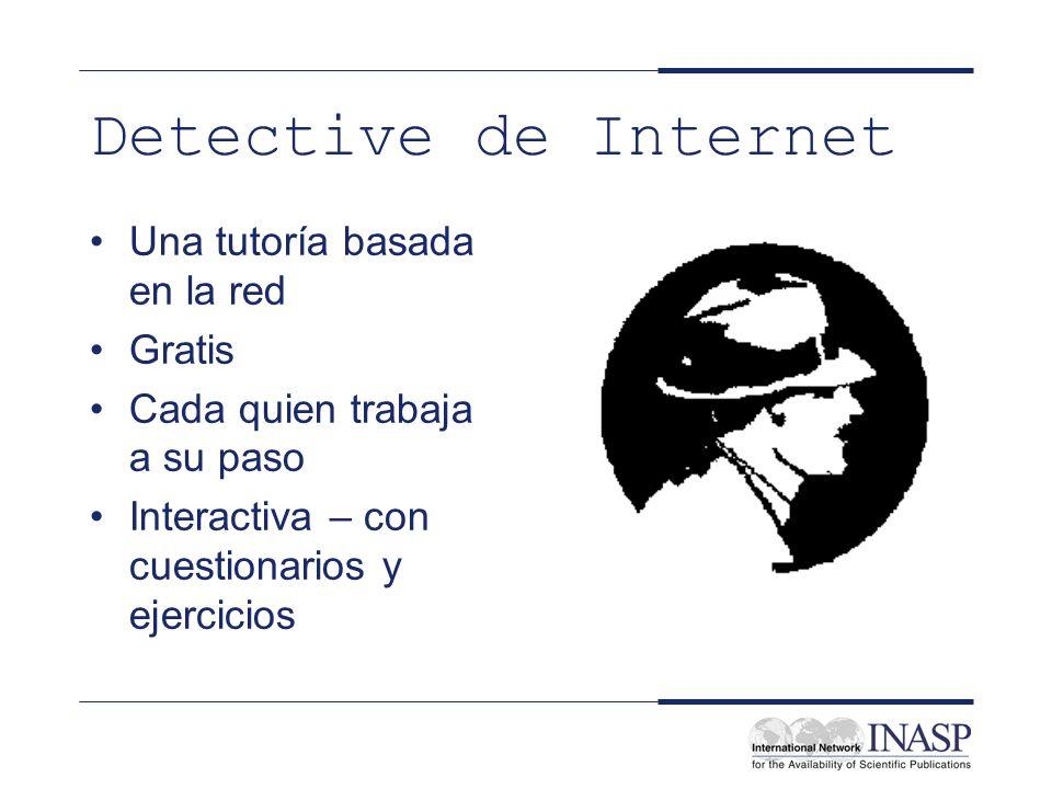 Detective de Internet Una tutoría basada en la red Gratis
