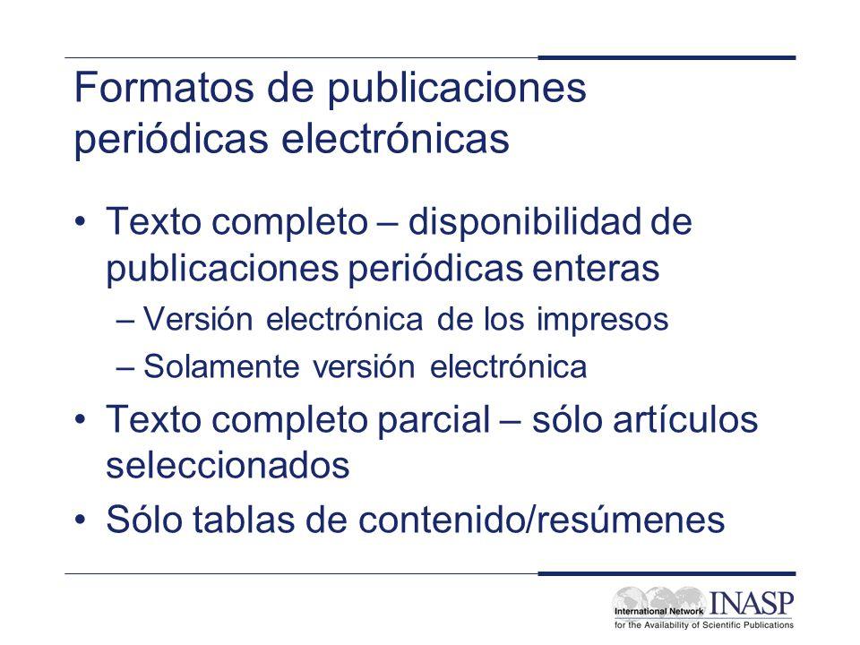 Formatos de publicaciones periódicas electrónicas