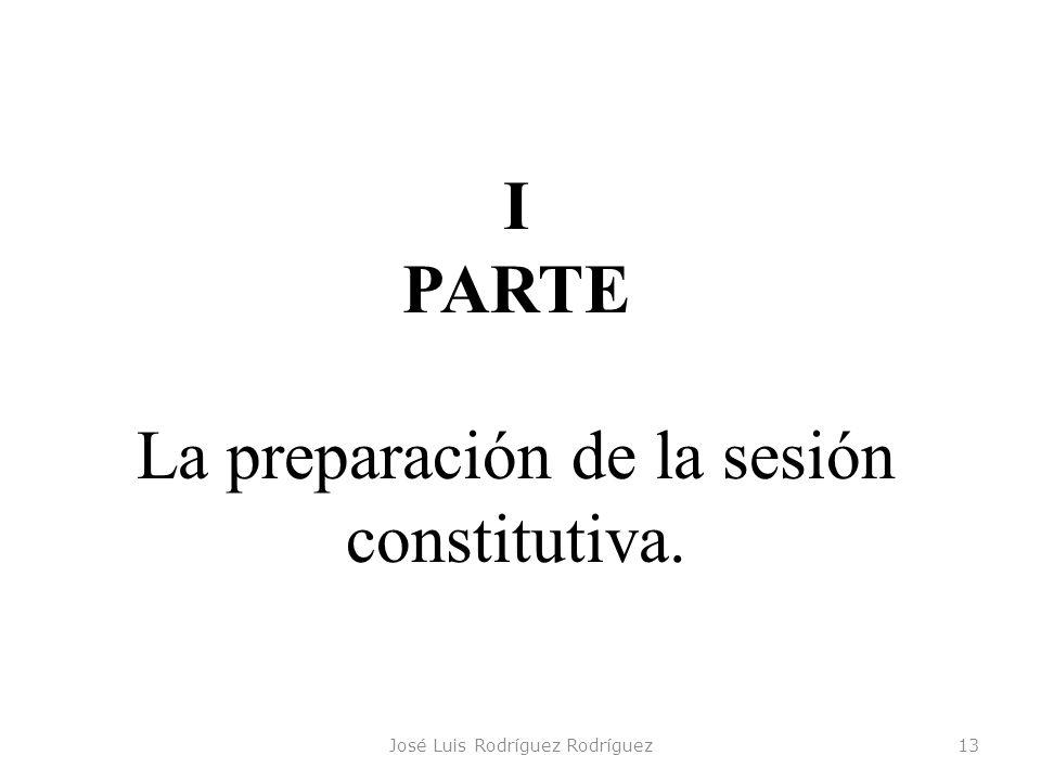La preparación de la sesión constitutiva.