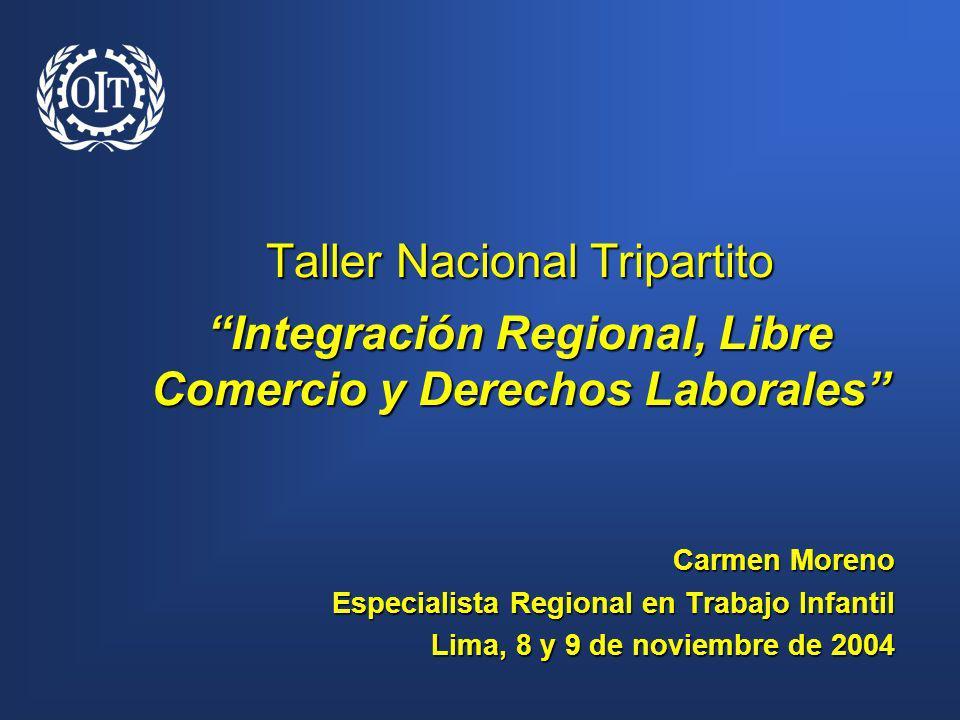 Taller Nacional Tripartito Integración Regional, Libre Comercio y Derechos Laborales