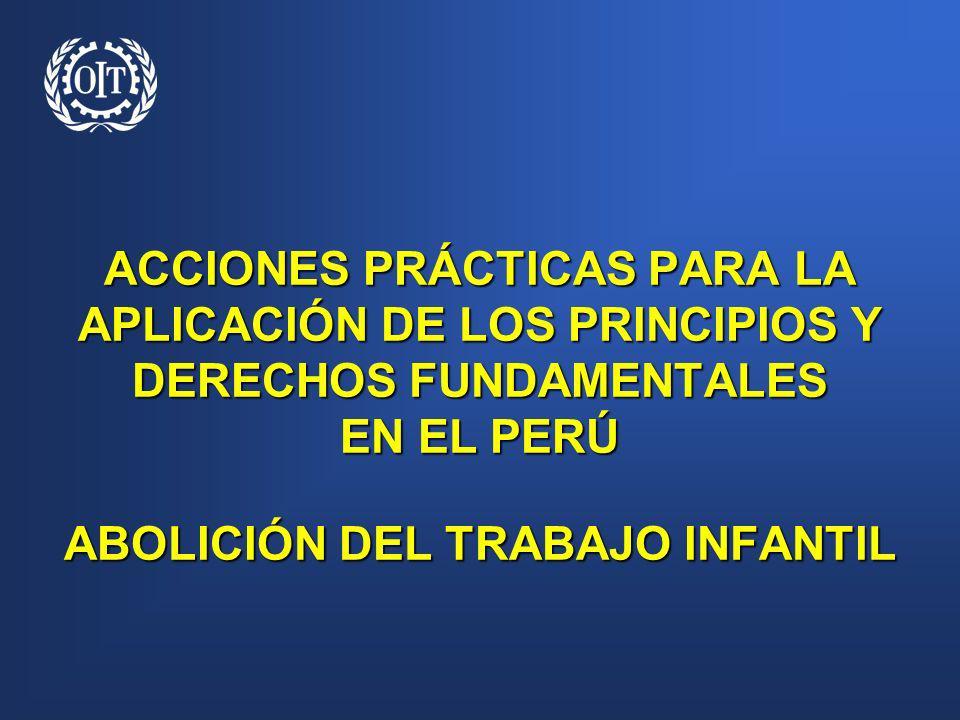 ACCIONES PRÁCTICAS PARA LA APLICACIÓN DE LOS PRINCIPIOS Y DERECHOS FUNDAMENTALES EN EL PERÚ ABOLICIÓN DEL TRABAJO INFANTIL