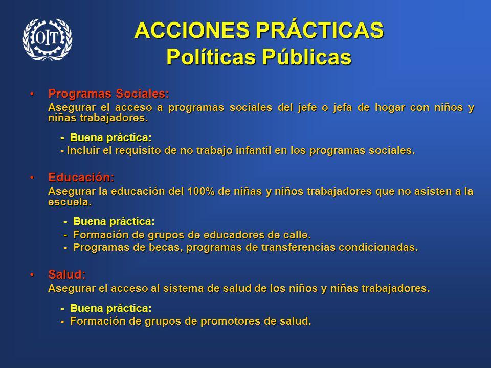 ACCIONES PRÁCTICAS Políticas Públicas