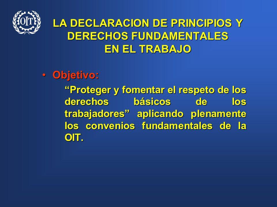 LA DECLARACION DE PRINCIPIOS Y DERECHOS FUNDAMENTALES EN EL TRABAJO
