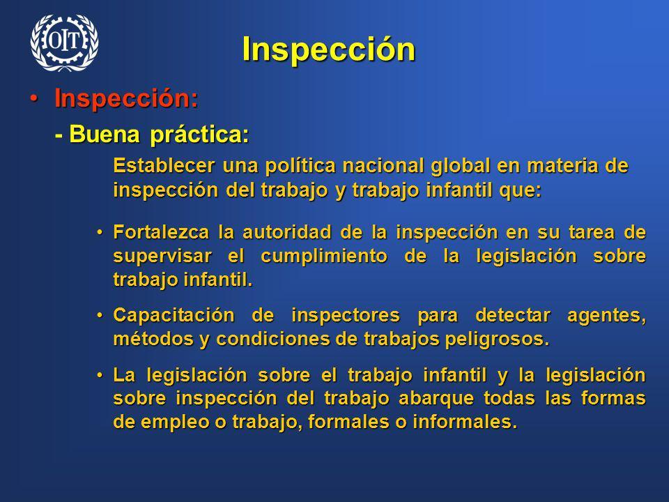 Inspección Inspección: - Buena práctica: