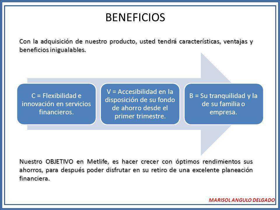 BENEFICIOS Con la adquisición de nuestro producto, usted tendrá características, ventajas y beneficios inigualables.