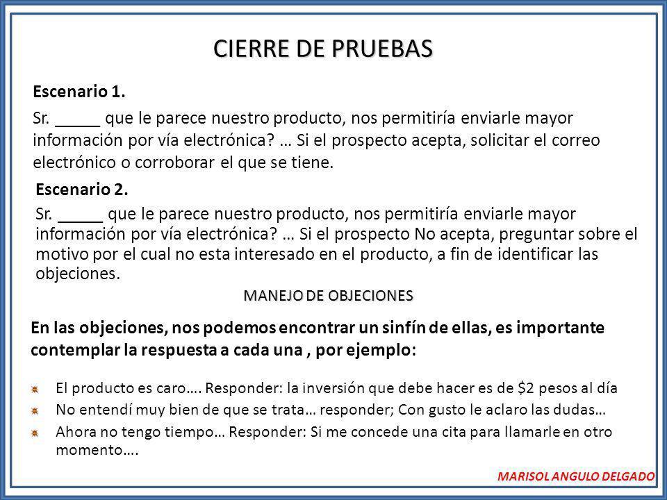 CIERRE DE PRUEBAS Escenario 1.