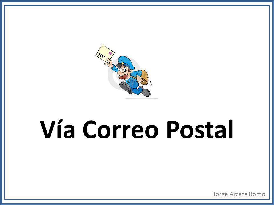 Vía Correo Postal Jorge Arzate Romo