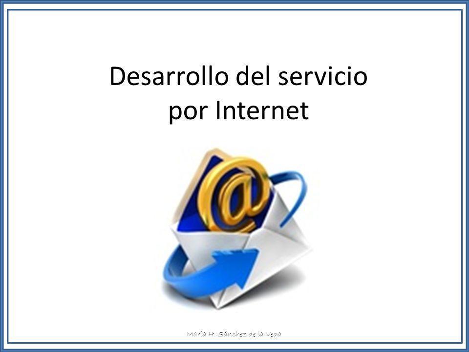 Desarrollo del servicio por Internet