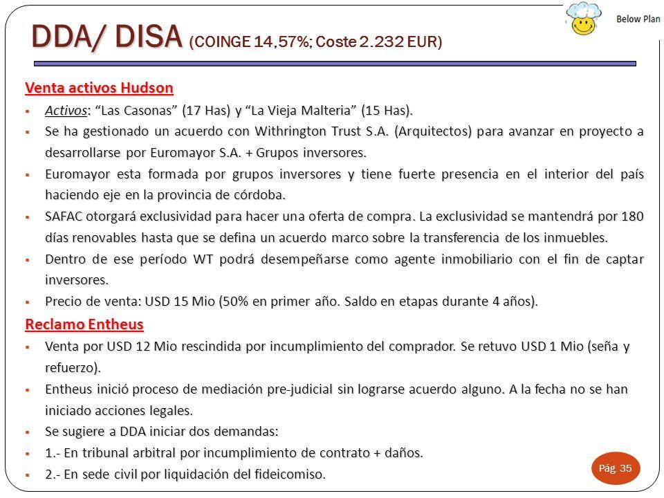 DDA/ DISA (COINGE 14,57%; Coste 2.232 EUR)