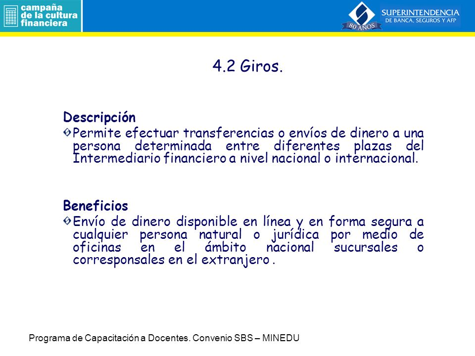 4.2 Giros. Descripción.