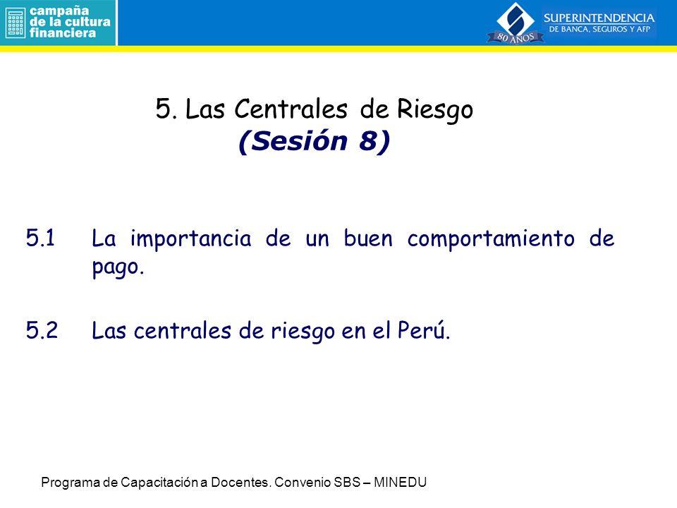 5. Las Centrales de Riesgo (Sesión 8)