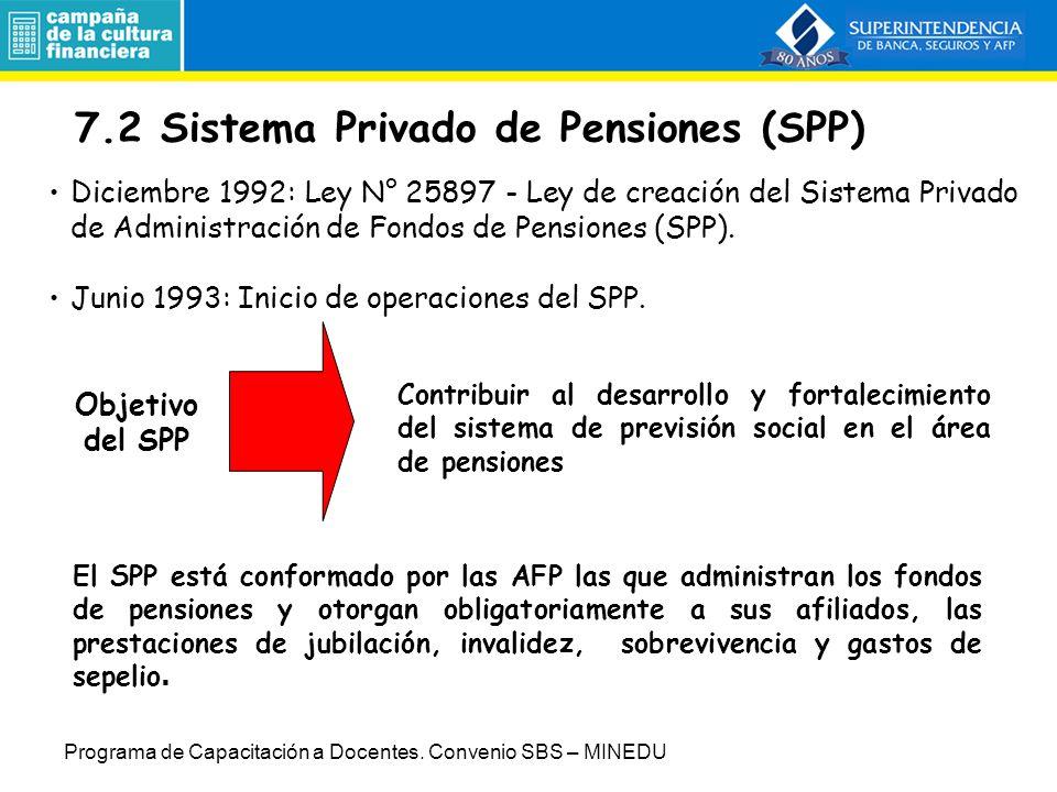 7.2 Sistema Privado de Pensiones (SPP)