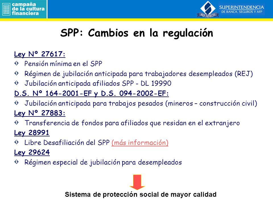 SPP: Cambios en la regulación