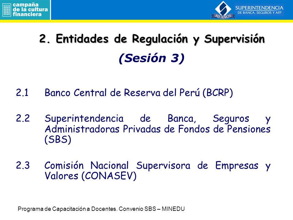 2. Entidades de Regulación y Supervisión (Sesión 3)