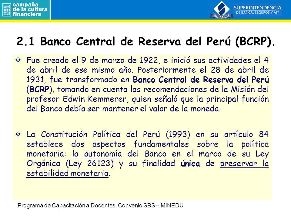 2.1 Banco Central de Reserva del Perú (BCRP).