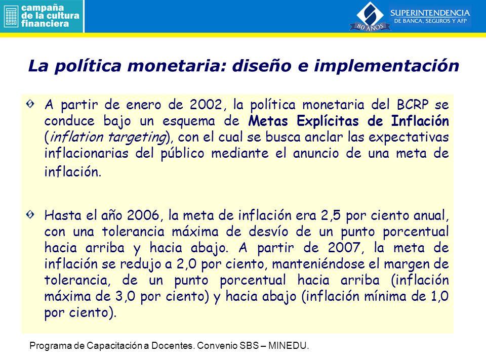La política monetaria: diseño e implementación