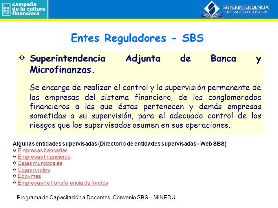 Entes Reguladores - SBS