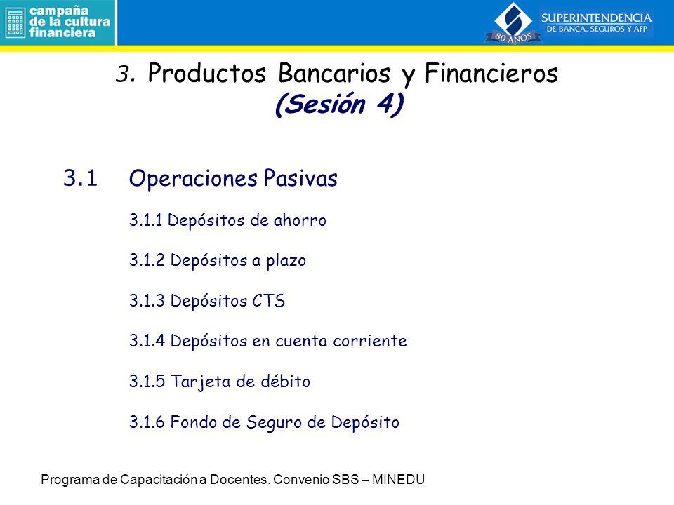 3. Productos Bancarios y Financieros (Sesión 4)