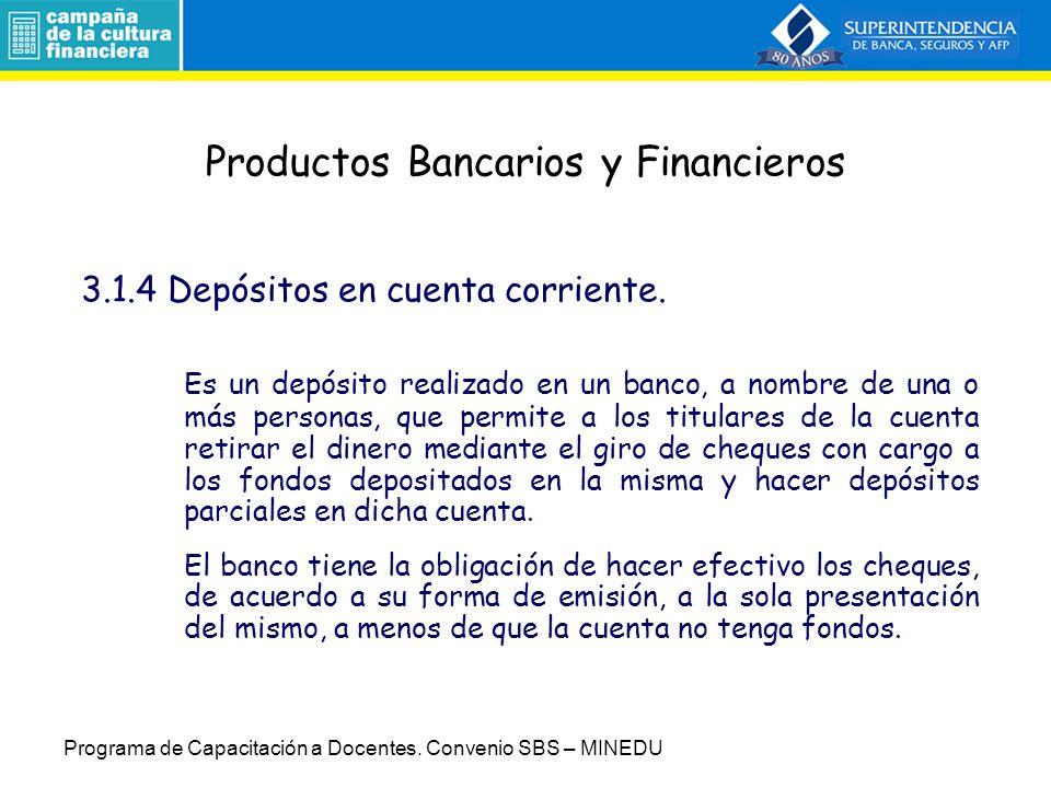 Productos Bancarios y Financieros