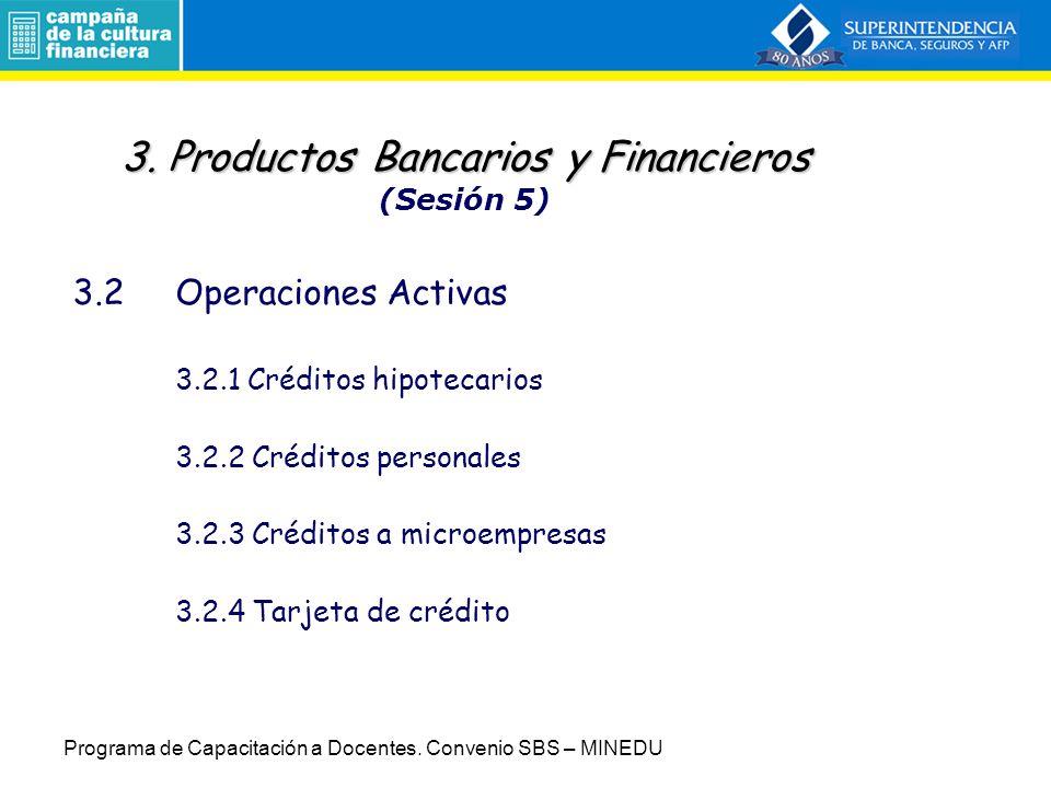 3. Productos Bancarios y Financieros (Sesión 5)