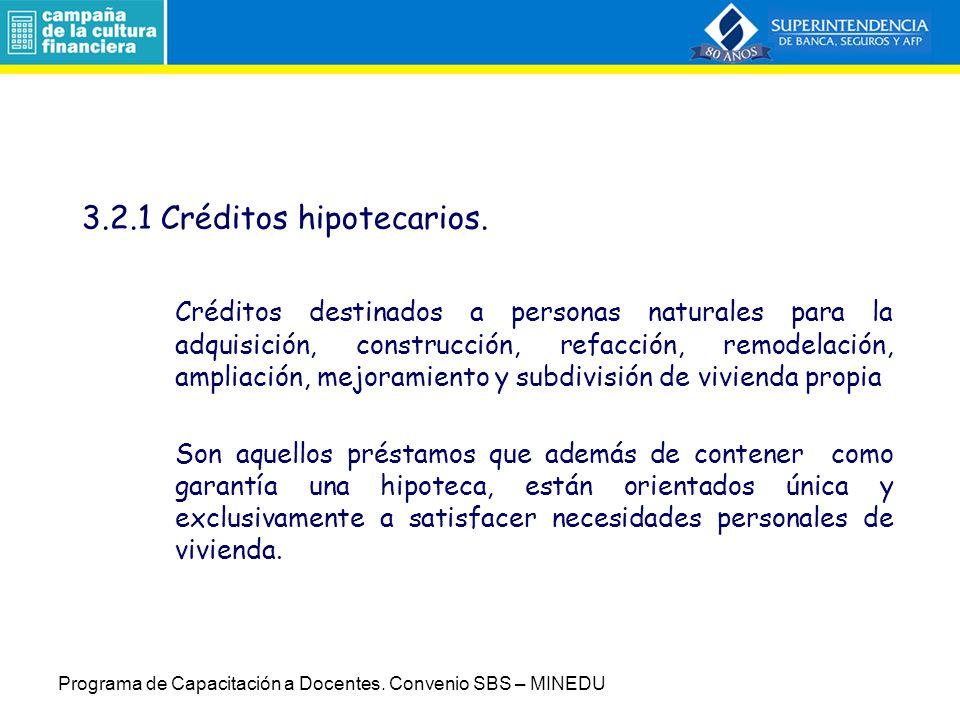 3.2.1 Créditos hipotecarios.