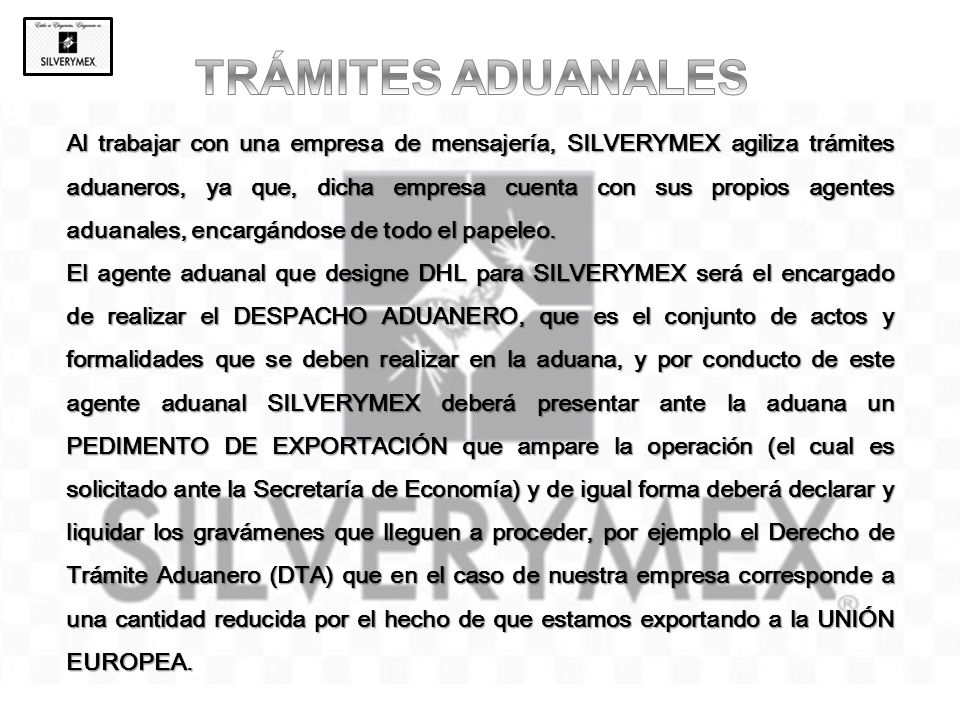 TRÁMITES ADUANALES