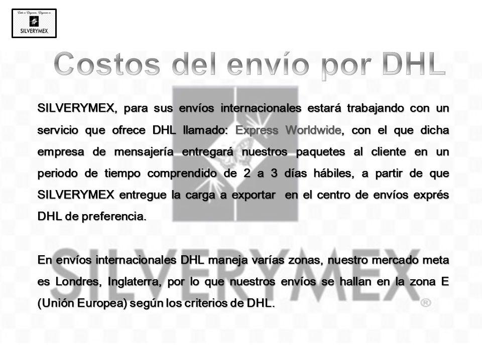 Costos del envío por DHL