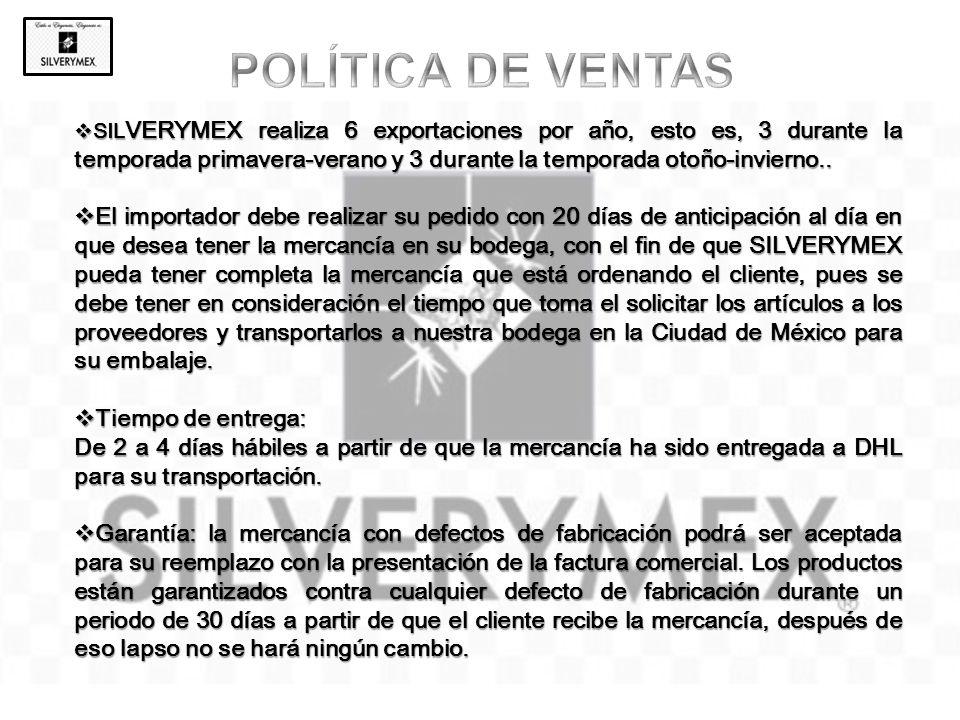 POLÍTICA DE VENTAS