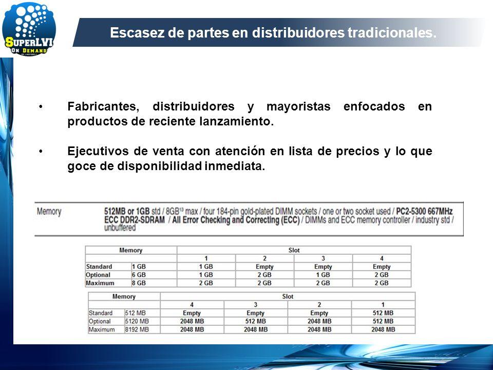 Escasez de partes en distribuidores tradicionales.