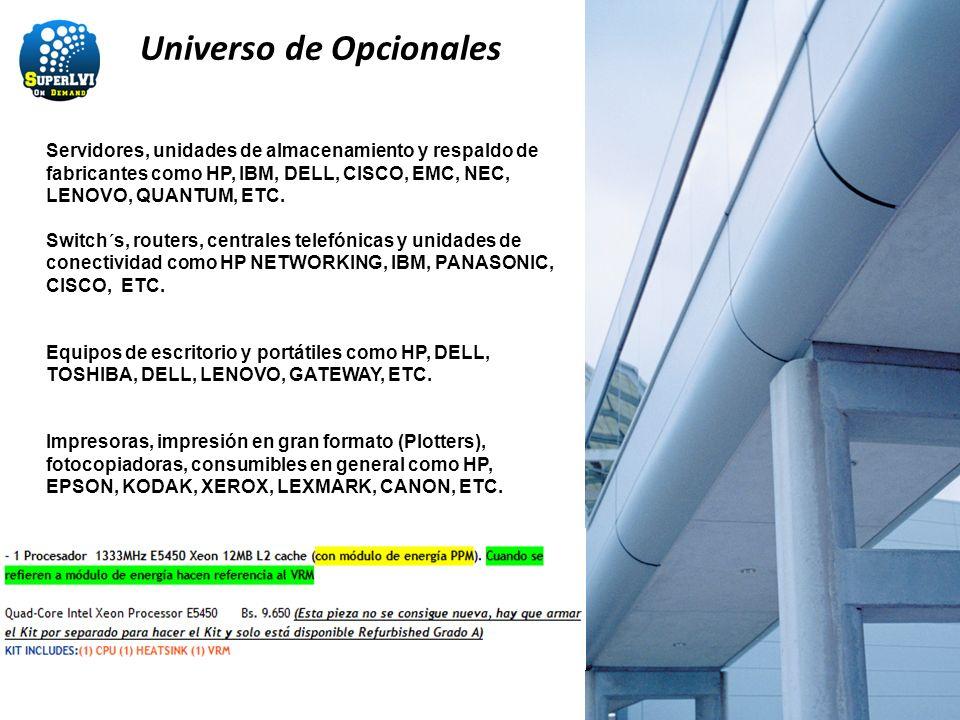 Universo de Opcionales