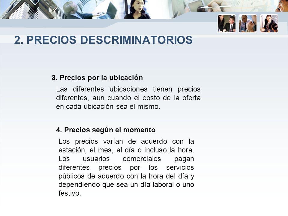 2. Precios descriminatorios