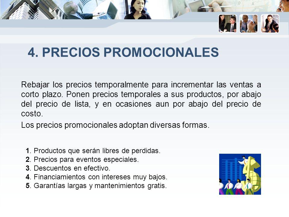 4. Precios promocionales